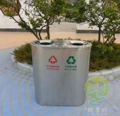 圆口不锈钢分类垃圾桶