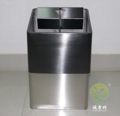 室内直投口方形不锈钢垃圾桶