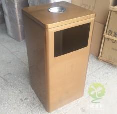 腐刻电镀土豪金不锈钢果皮箱