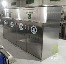 深圳城中村户外大容量不锈钢垃圾箱
