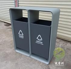 市政道路喷塑不锈钢分类垃圾箱