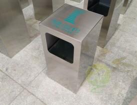 凯德公园1号采购欣方圳方形不锈钢垃圾桶